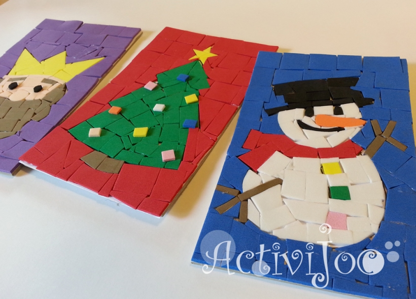 Taller infantil de mosaics de nadal